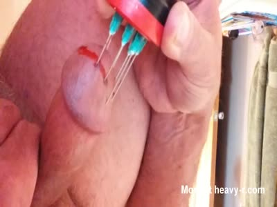 Pulling Needles From Cock