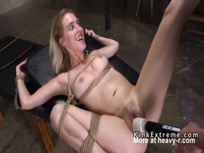 Bound Blonde Whipped And Toyed