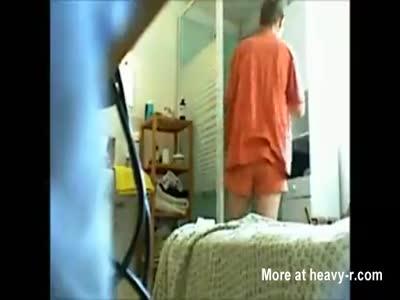 Undress, Shower, Dress On Hidden Cam