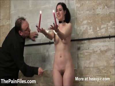 Sexy Slave In Hot Wax Torture