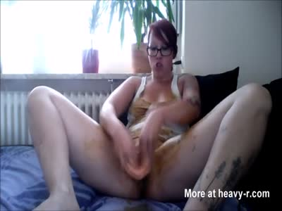 Woman Masturbating In Shit