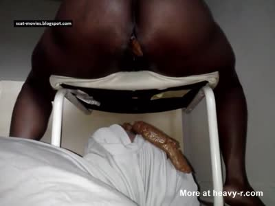 Black Mistress Poops On Slave