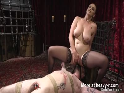 Sadist Dominatrix Torments Guy