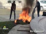 Bulgarian woman sets herself ablaze