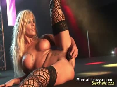 MILF Stripping On Public Stage