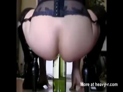 Anal Riding Wine Bottle