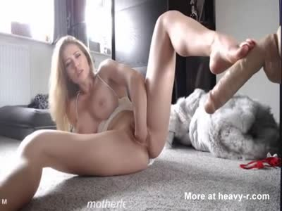 Horny Blonde Fisting Herself