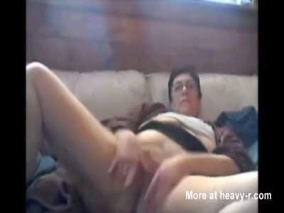 Dutch Grandma In Homemade Solo Masturbation