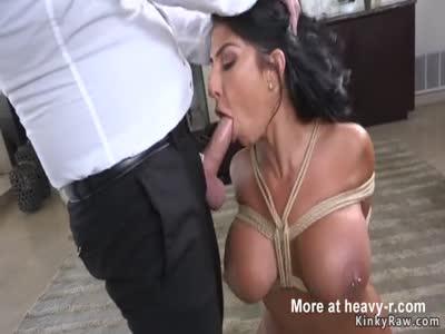 Huge Tits MILF Fucking In Rope Bondage