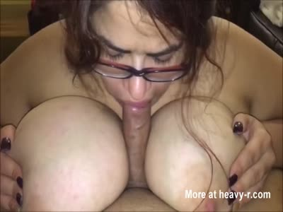 Naughty Plump Slut With Massive Knockers Giving Head To BF