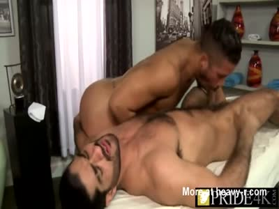Young dude massaging big fat cock