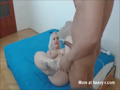 Biggest Ass and Huge Tits Blonde Fuck Part II Creampie