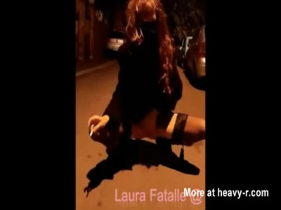 Street Pissing and Smoking Cigar - Laura Fatalle