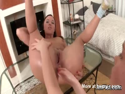 Sexy lesbian babes are opening up and fist fucking anals