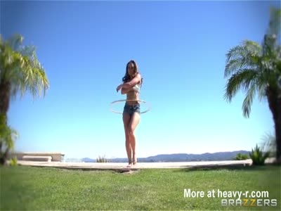 Hula Hooping Girl