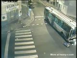 Bus hits truck in Argentina