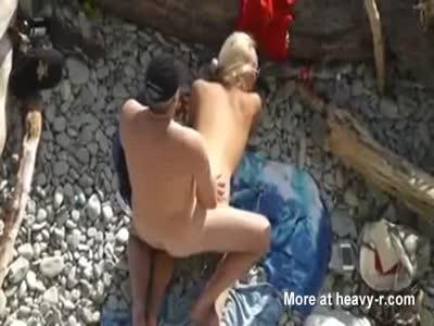 Couple Banging On Peble Beach