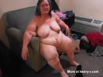 Old Fat Grandma Stripping Naked