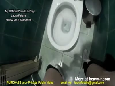 Pissing all over Public Toilet-Laura Fatalle,