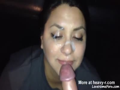 Wife Keeps Sucking Cock After Facial