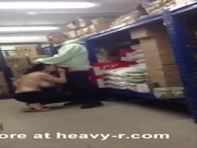 Blowjob In Supermarket