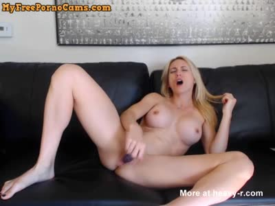 Fake Tits Blonde Talking Dirty While Fucking Her Wet Pussy
