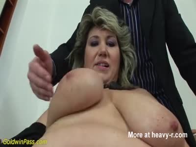 Slapping Saggy Tits