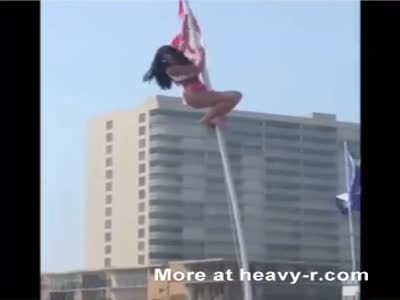 Flagpole Can't Hold Her