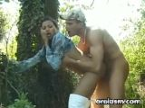 Asian Girl Sucks And Fucks Outside