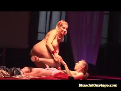 Busty Blonde Sex show On Stage