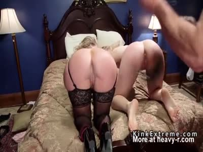 Old and young slaves whipped and fucked