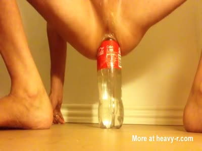 Cola bottle in ass
