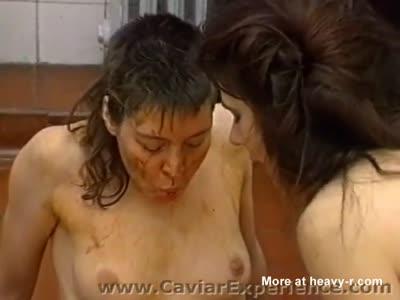 Lesbian Scat Fun In Bathroom