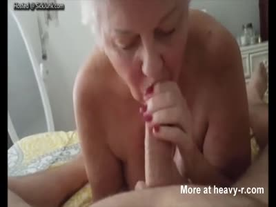Grand Mother Giving Her Grandson Pro Blowjob
