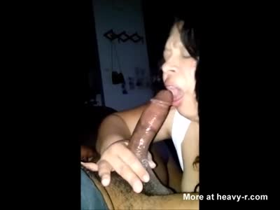Plump Latina Beauty Deepthroating Black Cock