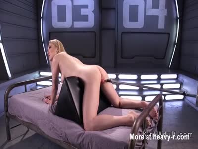 Long Legged Blonde Machine Fucked