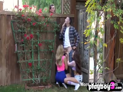 College teens are horny and get with the big dick neighbor