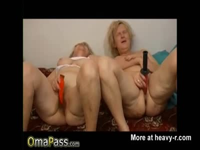 Granny Ladies Toying With Dildos