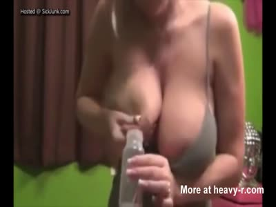 Mom Milking Her Massive Tits