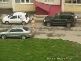 Crazy naked guy on the street