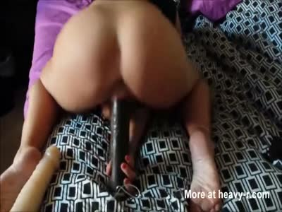 First Dildo And Then Real Cock