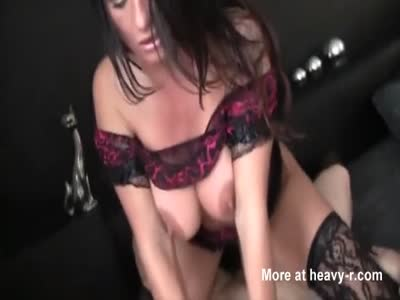 Busty German MILF Riding Hard