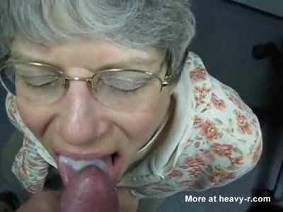 Grandma Swallows Cum