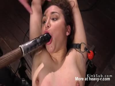 Hogtied Babe Fucked With Dildo On A Stick