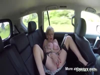 Mature Masturbating In Car