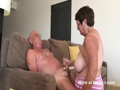 Granny Giving Grandpa Handjob