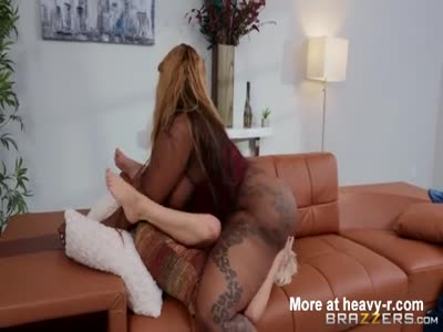 Blonde Smothered By Huge ASS