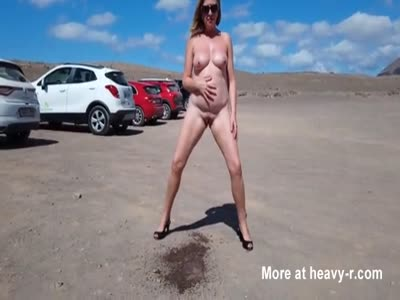 Nudist Lady Peeing In Public
