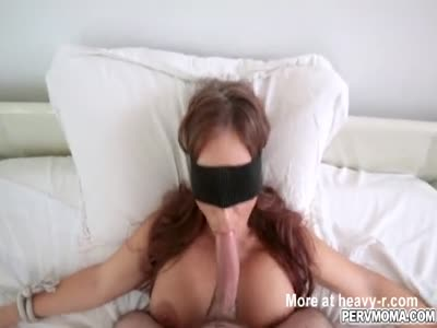 Sexy MILF Sloppy blowjob for stepsons dick