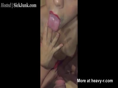 Licking Cum From Fingers